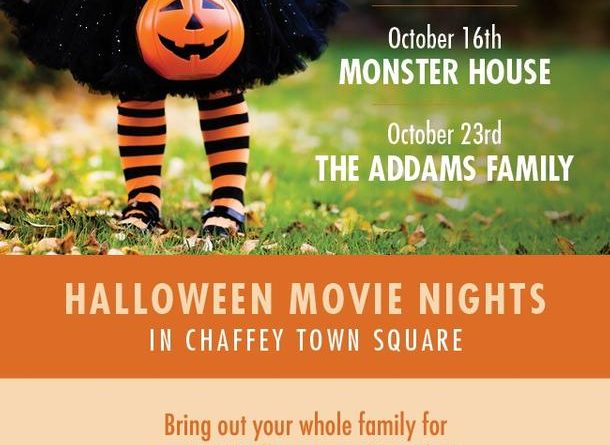 Spooky Fun Times in Chaffey Square for Halloween Movie Night